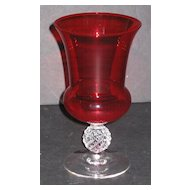 Morgantown 7643 Urn Vase Spanish Red