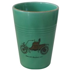 HLC Harlequin light green tumbler with decal