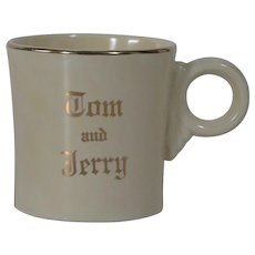 HLC Fiesta Tom & Jerry mugs with gold trim