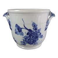 Royal Copenhagen Porcelain Blue Flowers Blaue Blume Wine Cooler Cache Pot