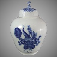 Royal Copenhagen Porcelain Blue Flowers Blaue Blume Lidded Jar