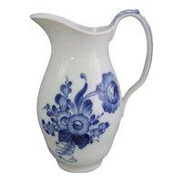 Royal Copenhagen Danish Porcelain Blue Flowers Blaue Blume Jug Pitcher 7.65 Inches Tall 1 106 443
