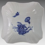 Royal Copenhagen Denmark Blue Flowers Curved Square Bowl 576