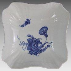 Royal Copenhagen Denmark Blue Flowers Curved Square Bowl 576