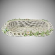 Belleek 2002 Oval Woven Basket