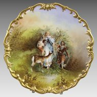 L.R.L. Limoges Porcelain Charger Signed Muville