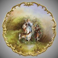 L.R.L. Limoges Porcelain Charger Signed Muville