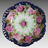 Antique Japanese Nippon Porcelain Chrysanthemum Bowl
