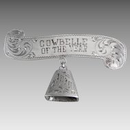 Cowbelle of the Year Sterling Silver Brooch 1970