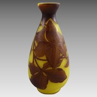 Andre Delatte French Art Deco Cameo Glass Vase