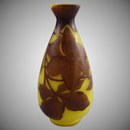 Andre Delatte French Art Deco Cameo Glass Vase