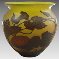 Arsall Vereinigte Lausitzer Glaswerke Cameo Glass Vase in Three Color Layers