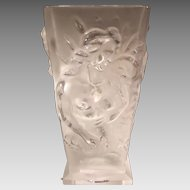Czech Glass Vase with Nudes