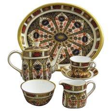 Royal Crown Derby Imari 1128 Miniature Cabaret Tea Set