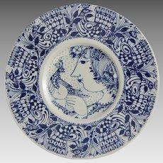 Bjorn Wiinblad Nymolle Denmark Ceramic Wall Plate 3153-1282