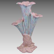"Royal Haeger 16"" Trumpet Lily Epergne Centerpiece Vase"