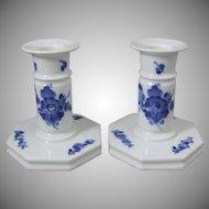 Royal Copenhagen Denmark Porcelain 1 107 502 Candlestick Pair