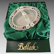 Belleek Porcelain Richard Degenhardt 1995 Handled Basket