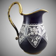 Murano Venezia Burano Lace Glass Pitcher
