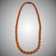 Natural Baltic Butterscotch Egg Yolk Amber Bead Necklace