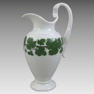 Meissen Porcelain Full Green Vine Milk Jug