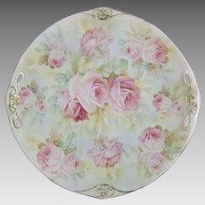 Royal Bayreuth Rose Tapestry Porcelain Dessert Cake Serving Plate