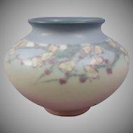 E.T. Hurley Rookwood Pottery Vellum Glaze Vase Cherry Blossom