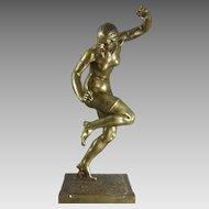 Louis Marie Jules Delapchier Bronze Female Nude