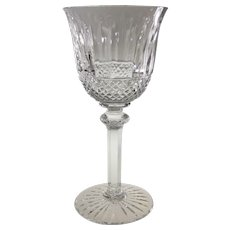 """Saint-Louis Crystal Tommy Continental 7.125"""" Wine Goblet Wine Glass St. Louis Cristal"""