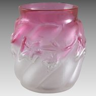 Northwood Royal Ivy Rubina Glass Satin Finished Toothpick Holder