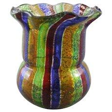Venetian Glass Murano Aventurine Toothpick Holder