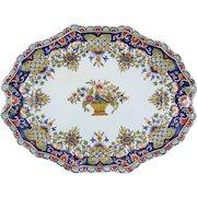 Antique Rouen French Faience Desvres Fourmaintraux Platter
