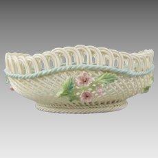 Belleek Woven Porcelain Irish Hawthorne Basket 2733