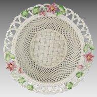 Belleek Woven Porcelain Limited Edition 2006 Rhododendron Basket 3463