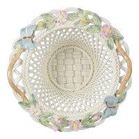 Belleek Woven Porcelain Millennium 2000 Butterfly Basket 2731
