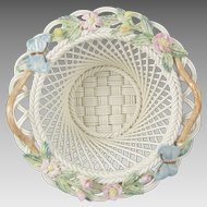 Belleek Woven Porcelain Millennium 2000 Butterfly Basket 2731