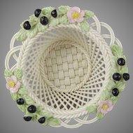 Belleek in Retrospect 2000 -  Woven Porcelain Blackberry Basket