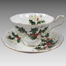 Royal Albert Bone China Porcelain England Yuletide Cup and Saucer Set