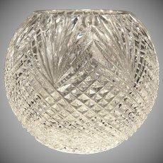 Tipperary Irish Crystal Diamond Cut Glass Rose Bowl