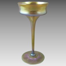 Tiffany Favrile Glass C1905 Manhattan Champagne Goblet