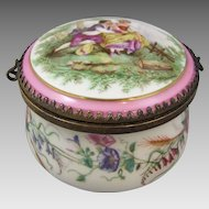 Antique French Porcelain Box