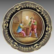 Chateau de Dreux Hand Painted Sevres Porcelain Cabinet Plate AF