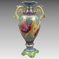 Nippon Antique Porcelain Pedestal Vase