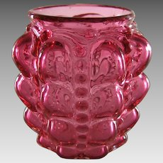 Consolidated Lamp & Glass Co. Guttate Pattern Ruby Glass Toothpick Holder