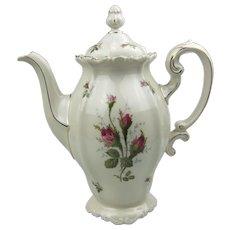 Rosenthal Pompadour Moss Rose Tall Coffee Pot
