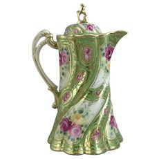 Nippon Porcelain Twisted Flute Chocolate Pot - For a limited time this item ships FREE within the U.S.