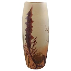Legras French Cameo Glass Vase with Aquatic Plants