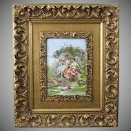 Limoges Porcelain Plaque