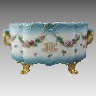 Limoges Porcelain Jardiniere Delinieres D & Co.  C1894