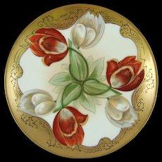 Pickard Studios Twin Tulip Otto Schoner Hand Painted Plate